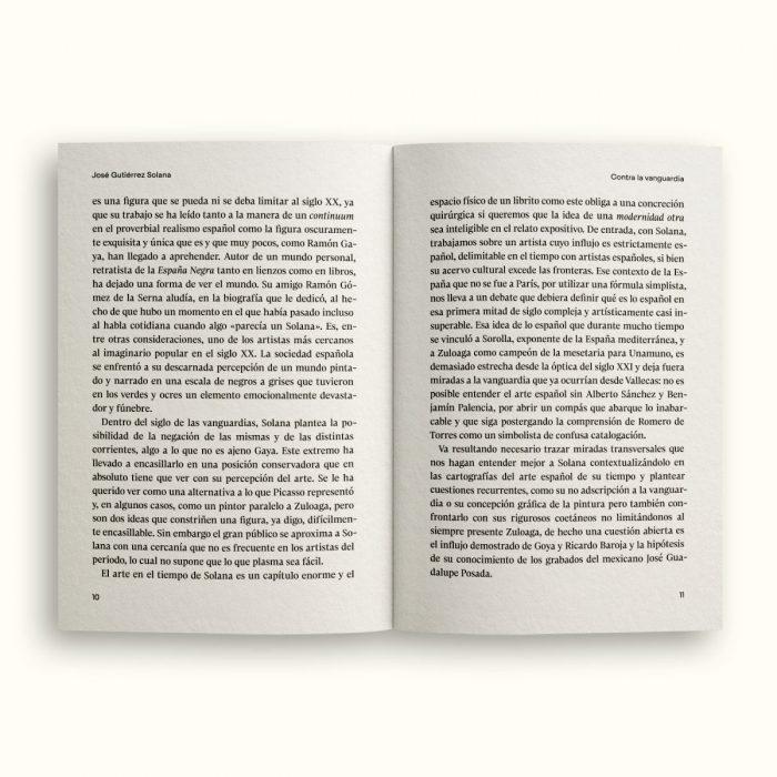 Páginas interiores del libro José Gutiérrez Solana - Contra la vanguardia - Colección Siglo XX - Num.001